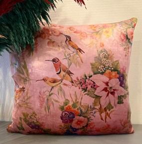 Garden Pink Bird Kırlent Kılıfı - CLB02KRNT görseli