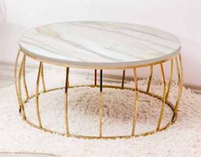 Mercan Orta Sehpa Gold Calcutto Mermer görseli