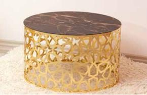 Lazer Orta Sehpa Gold Camlı Osmanlı - GRS-305 görseli