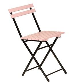 Zizuva Ahşap Pembe Katlanır Sandalye - ZZ5000-V100644 görseli