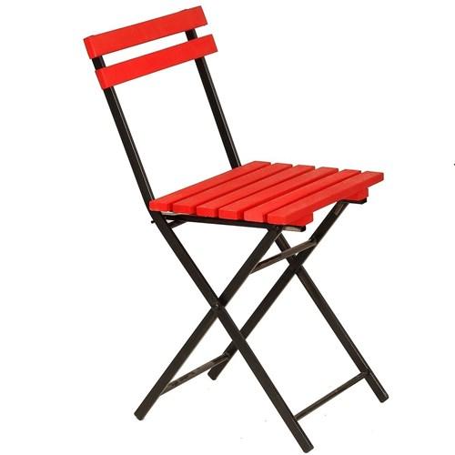 Zizuva Ahşap Kırmızı Katlanır Sandalye - ZZ5000-V100643 görseli, Picture 1