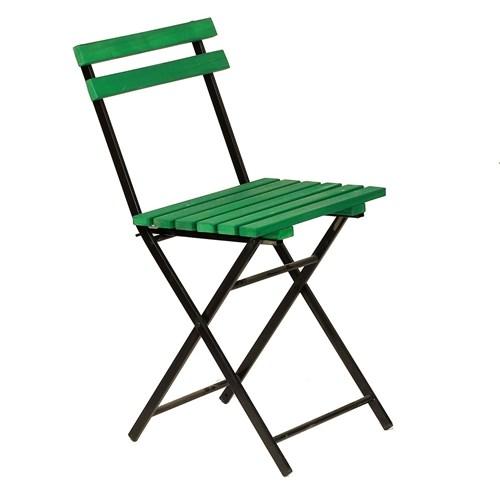 Zizuva Ahşap Yeşil Katlanır Sandalye - ZZ5000-V100642 görseli, Picture 1