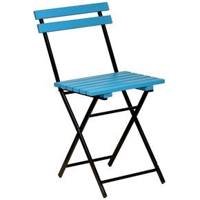 Zizuva Ahşap Mavi Katlanır Sandalye - ZZ5000-V100640 görseli