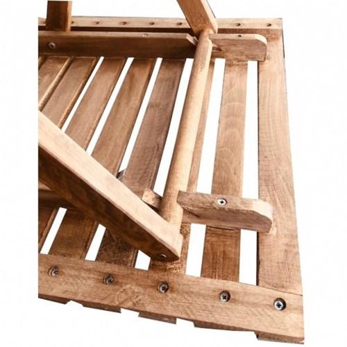 Zizuva Ahşap Katlanır Bistro Masa Sandalye Takımı - ZZ5000-V100618 görseli, Picture 3