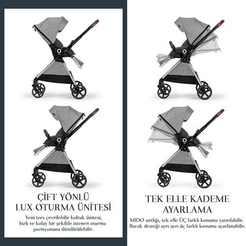 Mido Travel Sistem Bebek Arabası Siyah Gri - MDTRVLSYHGRİ01 görseli, Picture 4