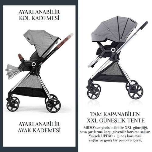 Mido Travel Sistem Bebek Arabası Siyah Gri - MDTRVLSYHGRİ01 görseli, Picture 6