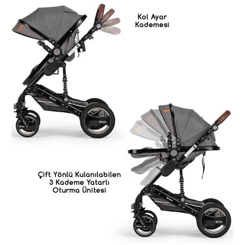 Velar Travel Sistem Bebek Arabası Gri - VLRTRVLGRİ01 görseli, Picture 4