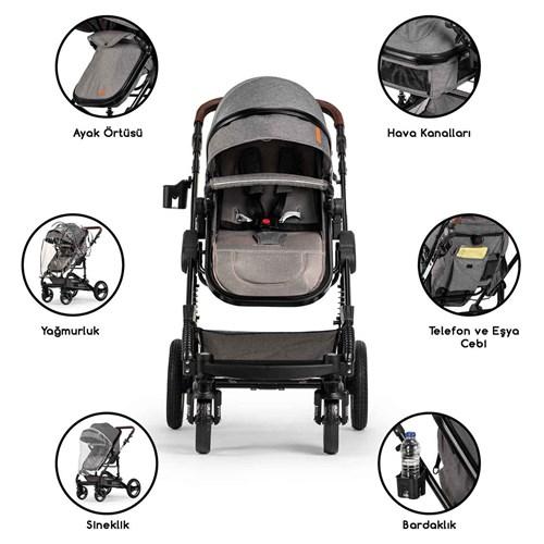 Velar Travel Sistem Bebek Arabası Siyah - VLRTRVLSYH02 görseli, Picture 3