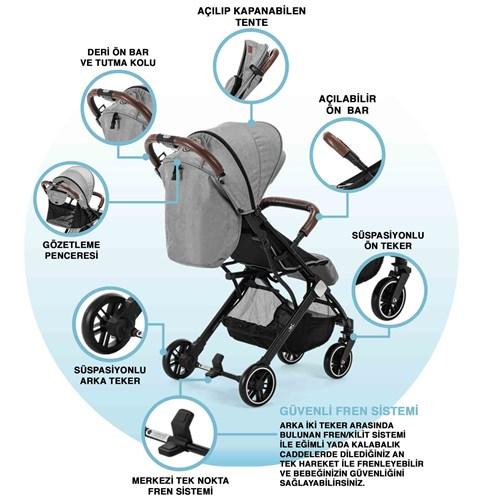 Jet Kabin Tipi Bebek Arabası Gri - JETKBNGRİ02 görseli, Picture 2