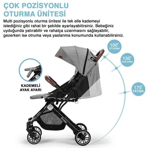 Jet Kabin Tipi Bebek Arabası Gri - JETKBNGRİ02 görseli, Picture 3