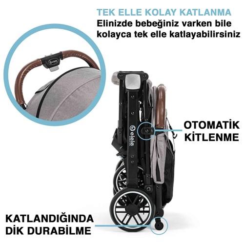 Jet Kabin Tipi Bebek Arabası Gri - JETKBNGRİ02 görseli, Picture 4