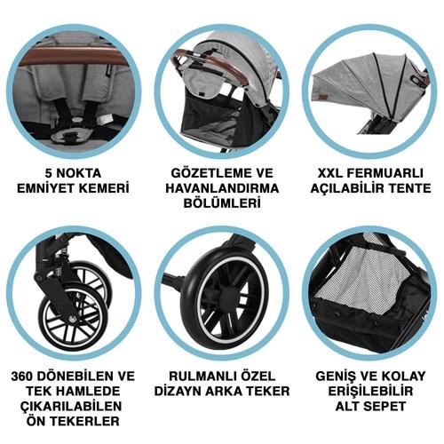 Jet Kabin Tipi Bebek Arabası Gri - JETKBNGRİ02 görseli, Picture 5