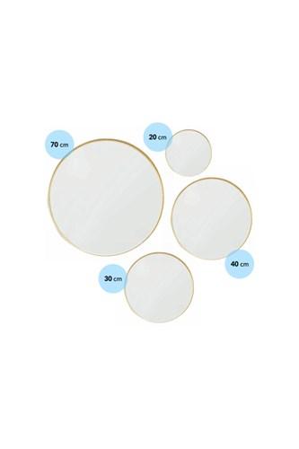 Asu 70 Cm Gold Yuvarlak Ayna- OTTO- ASU- 70 görseli, Picture 2
