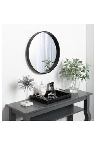 Asu 90 Cm Siyah Yuvarlak Ayna - OTTOASU90 görseli, Picture 2