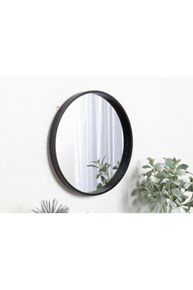 Asu 40 Cm Siyah Yuvarlak Ayna   - OTTOASU40 görseli