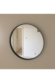 Ahu 70 Cm Siyah Yuvarlak Ayna - OTTO.AHU.70 görseli