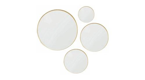 Asu 4'lü Set Gold Yuvarlak Ayna - OTTOASU4LÜGLD görseli, Picture 1