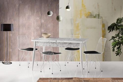 Kelebek Masa Tivoli Sandalye Beyaz -  MK-621-23BYZ görseli, Picture 1