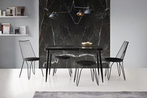 Metal Otomatik Masa Ada Sandalye Siyah görseli