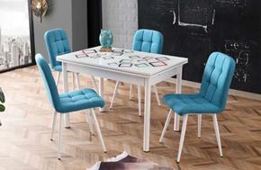 Camlı Polo Masa Elit Metal Sandalye - CR-6401-10 görseli