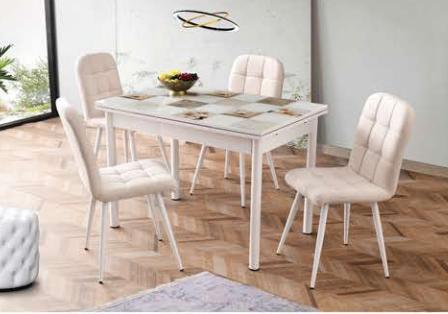 Camlı Polo Masa Elit Metal Sandalye - CR-6401-10 görseli, Picture 7
