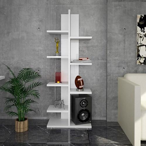 Sarmaşık-Sekiz-Raflı-Kitaplık-Beyaz - ARD200 görseli, Picture 2