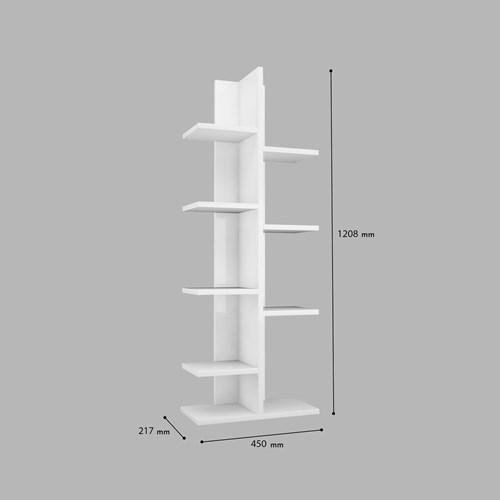 Sarmaşık-Sekiz-Raflı-Kitaplık-Beyaz - ARD200 görseli, Picture 4