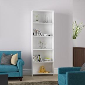 Beş-Raflı-Kitaplık-Beyaz - ARD204 görseli