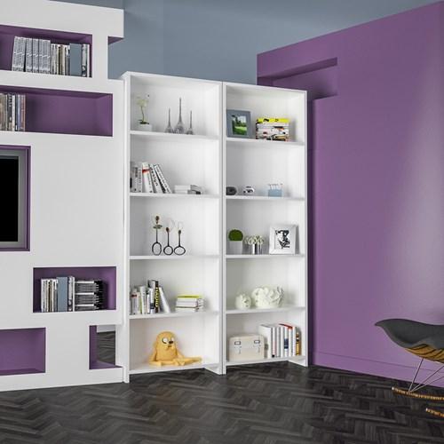 Beş-Raflı-Kitaplık-Beyaz - ARD204 görseli, Picture 2