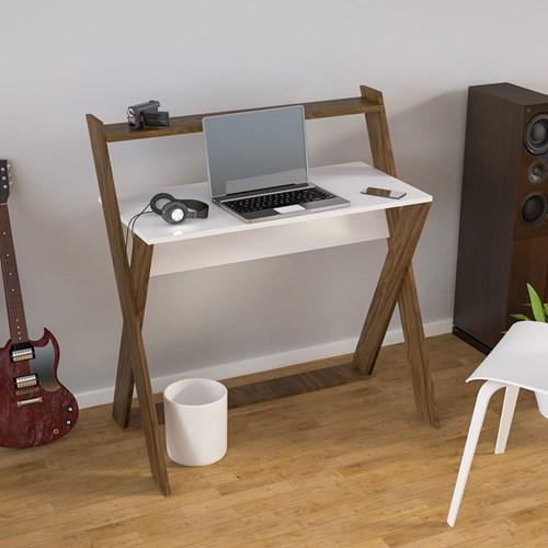 X Çalışma Masası Ceviz Beyaz - ARD309 görseli, Picture 2