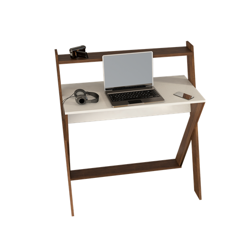 X Çalışma Masası Ceviz Beyaz - ARD309 görseli, Picture 3