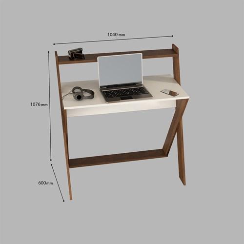X Çalışma Masası Ceviz Beyaz - ARD309 görseli, Picture 4