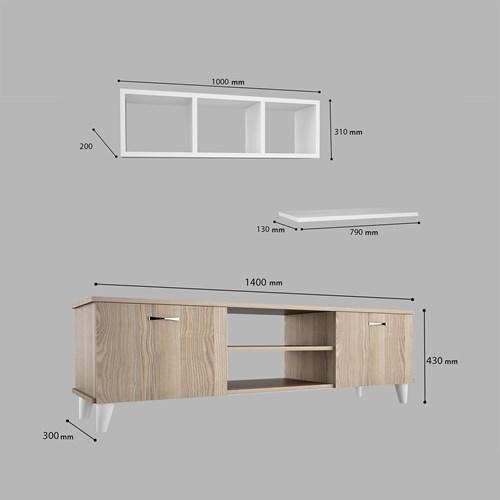 Ardin Tv Ünitesi  3 Lü Set  Cordoba  - ARD606 görseli, Picture 4
