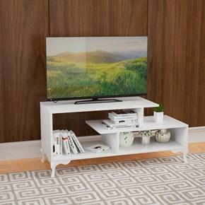 Bergama Tv Sehpası Lükens Ayak Beyaz - ARD607 görseli