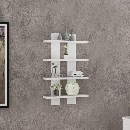 Nergis 4 Lü Duvar Rafı Beyaz - ARD609 görseli, Picture 2