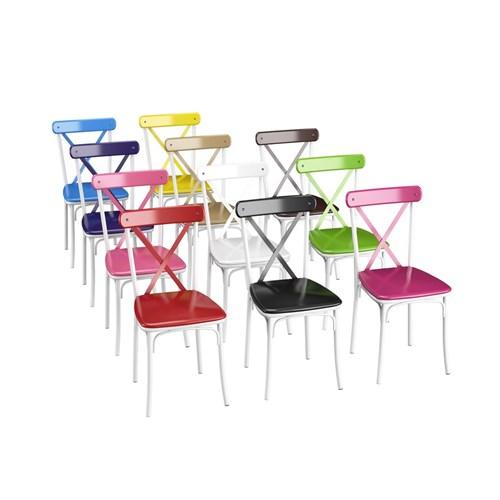 Lidya Torna Ayaklı Beyaz Sandalye Takımı  - ARD4015 görseli, Picture 2