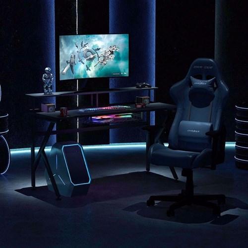Zizuva Tasarımlı Ev Ofis Bilgisayar Oyuncu Gaming Monitör Raflı Sepetli Askılıklı Metal Çalışma Masası görseli, Picture 2