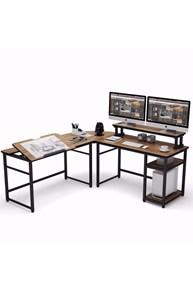Zizuva Ceviz L Şekilli Çizim Ve Çalışma Masası ZZ2000-V200054 görseli