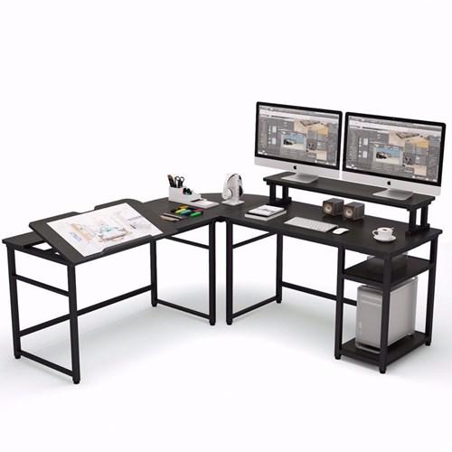 Zizuva Siyah L Şekilli Çizim ve Çalışma Masası - ZZ2000-V200031 görseli, Picture 2