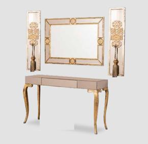 Altın Rengi Üçlü Ayna Seti -  GRS-1410 görseli