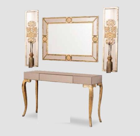 Altın Rengi Üçlü Ayna Seti -  GRS-1410 görseli, Picture 1
