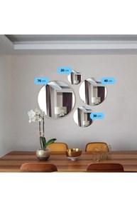 Otto Asu Gold 4'lü Yuvarlak Ayna görseli