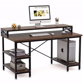 Zizuva Ceviz Modern Raflı Çalışma Masası - ZZ2000-V200048 görseli
