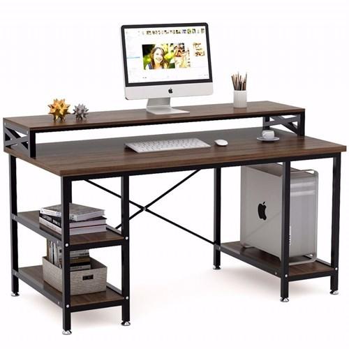 Zizuva Ceviz Modern Raflı Çalışma Masası - ZZ2000-V200048 görseli, Picture 1