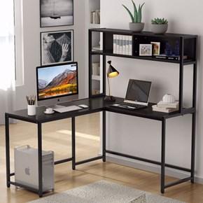 Zizuva Siyah Kitaplıklı Çalışma Masası - ZZ2000-V200035 görseli
