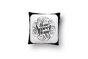 Çerçeveli Home Sweet Home Cool Kırlent-DKRNYÇRÇVL görseli