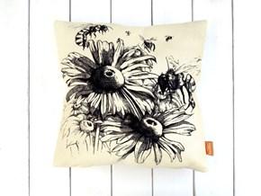Arılar ve Çiçekler Kırlent -DKRNYARLR görseli
