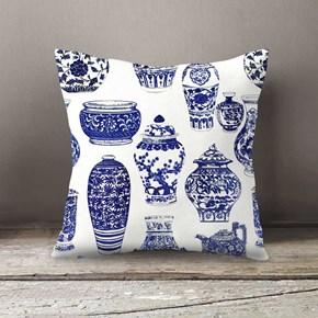 Bleu Blanc Desenli Yastık- DKRNYBLBL görseli