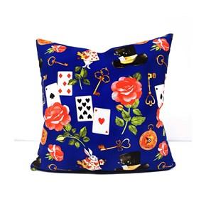 Alice Harikalar Diyarında Desenli Yastık- DKRNYALC görseli