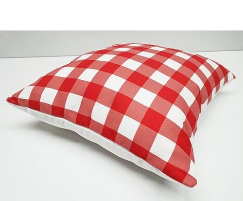 Kırmızı Pötikare Desenli Dekoratif Kırlent- DKRNYKRMZPT görseli, Picture 2